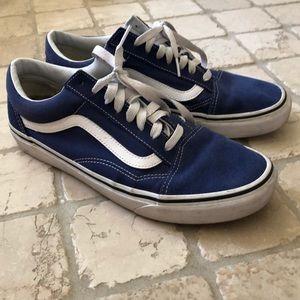 Used Blue Vans Flats, men's 10.5